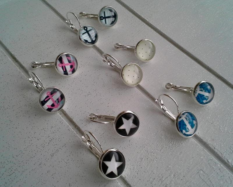 Kleinesbild - Ohrringe ♥ Anker ♥,  ☆ versilbert ☀ verschiedene Motive ☀