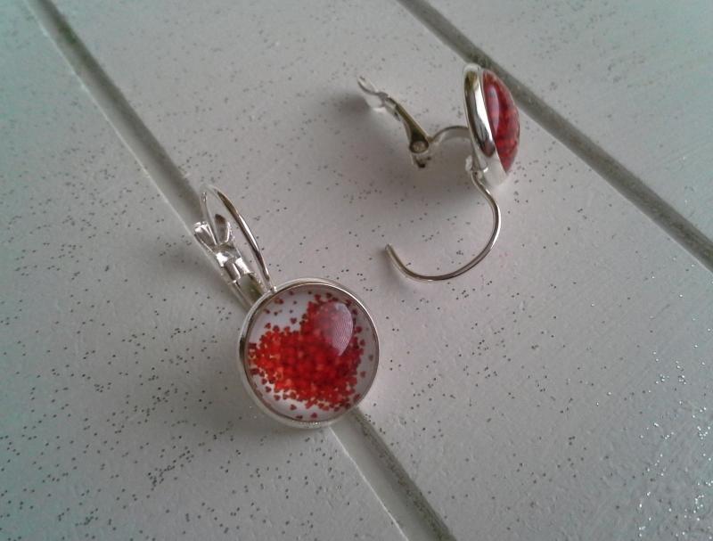 Kleinesbild - Ohrringe ♥ Herz ♥,  ☆ versilbert ☀ verschiedene Motive ☀