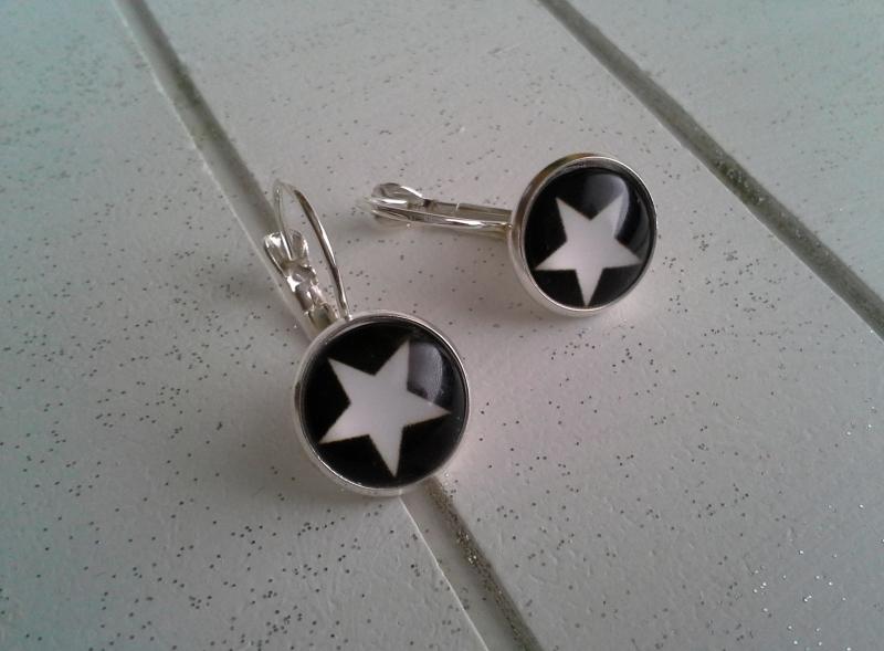 - Ohrringe ♥ Stern ♥,  ☆ versilbert ☀ verschiedene Motive ☀    - Ohrringe ♥ Stern ♥,  ☆ versilbert ☀ verschiedene Motive ☀