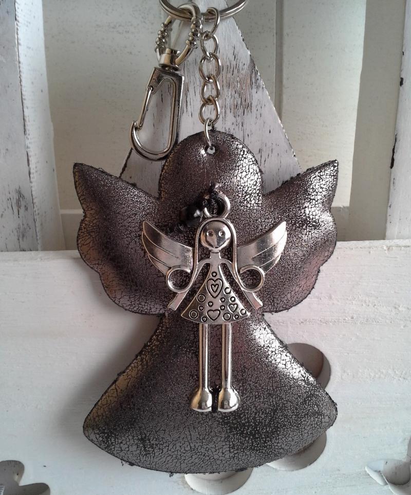 - Schlüsselanhänger ★ Schutzengel ★ ♡ , aus Stoff mit Engel-Anhänger  - Schlüsselanhänger ★ Schutzengel ★ ♡ , aus Stoff mit Engel-Anhänger