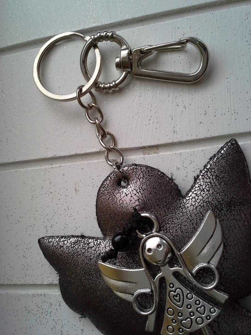 Kleinesbild - Schlüsselanhänger ★ Schutzengel ★ ♡ , aus Stoff mit Engel-Anhänger