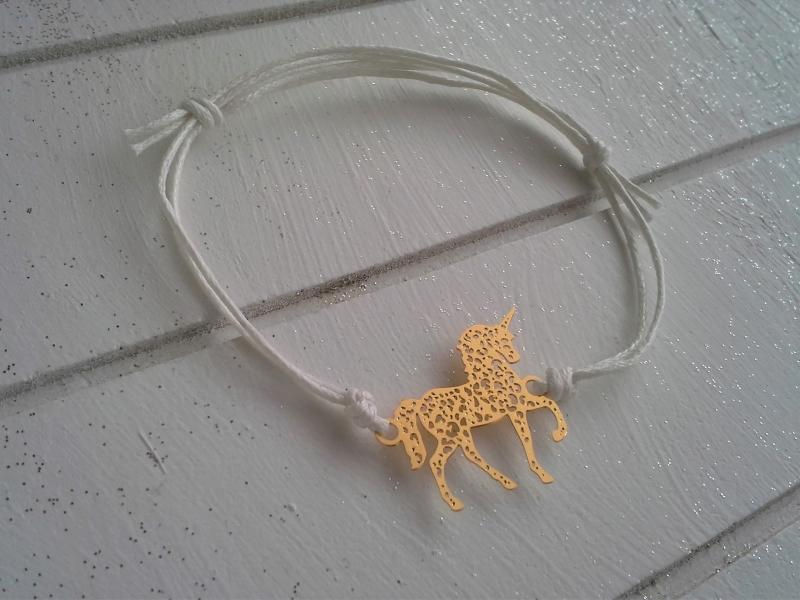 - Armband ♥ Einhorn ♥, geknüpftes Armband mit filigranem Anhänger ☀ individualisierbar!  - Armband ♥ Einhorn ♥, geknüpftes Armband mit filigranem Anhänger ☀ individualisierbar!