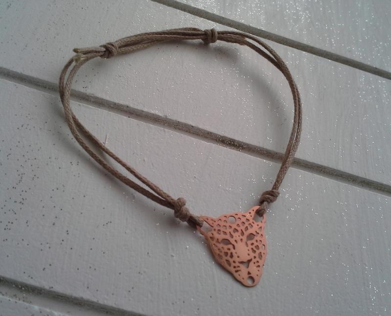 - Armband ♥ Leopard ♥, geknüpftes Armband mit filigranem Anhänger ☀ individualisierbar! - Armband ♥ Leopard ♥, geknüpftes Armband mit filigranem Anhänger ☀ individualisierbar!
