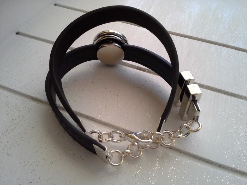 Kleinesbild - Armband ♥ Name ♥, aus Kunstlederband mit Namens-Chunk ☀ individualisierbar!