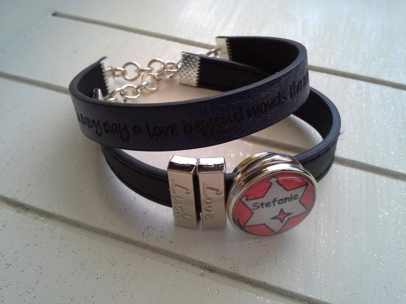 - Armband ♥ Name ♥, aus Kunstlederband mit Namens-Chunk ☀ individualisierbar!    - Armband ♥ Name ♥, aus Kunstlederband mit Namens-Chunk ☀ individualisierbar!