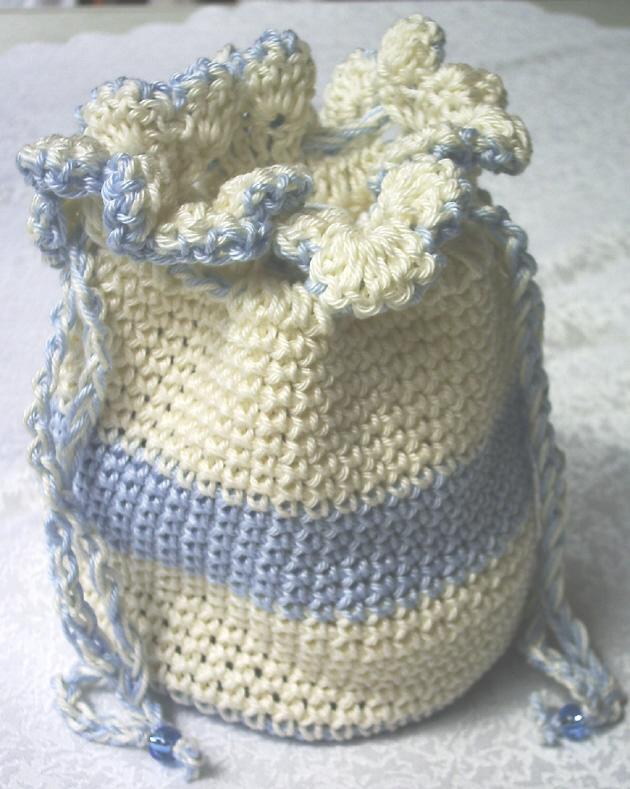 - Beutel ♡ Utensilo handgehäkelt aus Baumwolle in Creme und Hellblau für die Aufbewahrung von vielen kleinen Dingen kaufen - Beutel ♡ Utensilo handgehäkelt aus Baumwolle in Creme und Hellblau für die Aufbewahrung von vielen kleinen Dingen kaufen