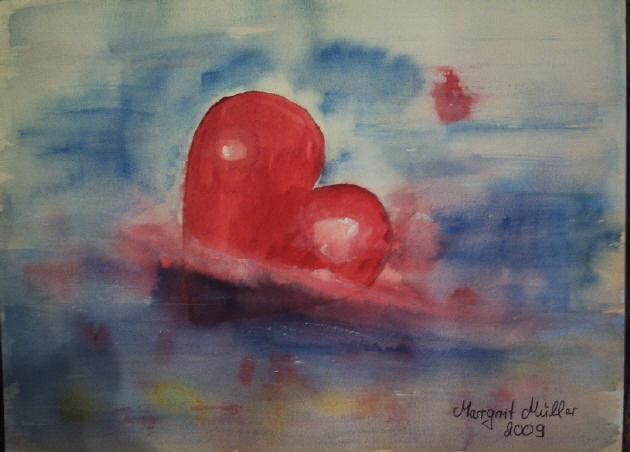 Kleinesbild - Handgemaltes Aquarellbild mit dem Titel Rette mich gemalt mit Aquarellfarben auf Aquarellpapier direkt von der Künstlerin kaufen