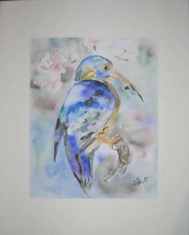 Kleinesbild - Handgemaltes Aquarell aus der Serie Vögel gemalt mit Aquarellfarben auf Aquarellpapier direkt von der Künstlerin kaufen