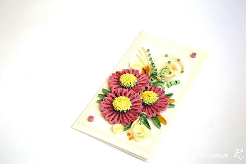 Kleinesbild - Quilling Grußkarte