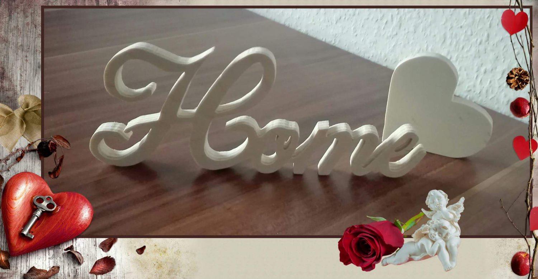 - Dekorativer Schriftzug Home - Dekorativer Schriftzug Home