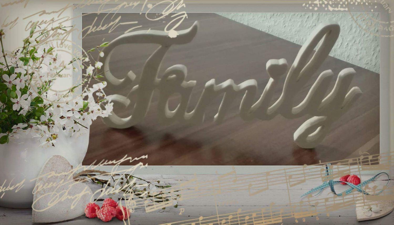 - Dekorativer Schriftzug Family - Dekorativer Schriftzug Family