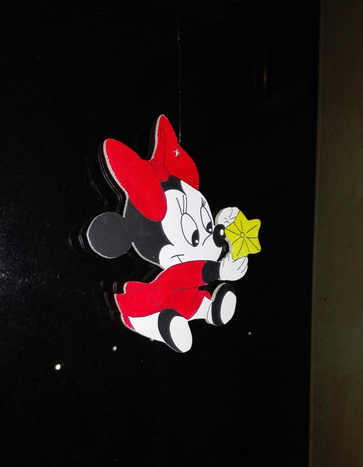 Kleinesbild -     Handgefertigtes Fensterbild mit Minni Mouse Motiv