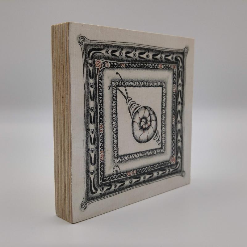 Kleinesbild - ZIA -Schnecke- auf Holz