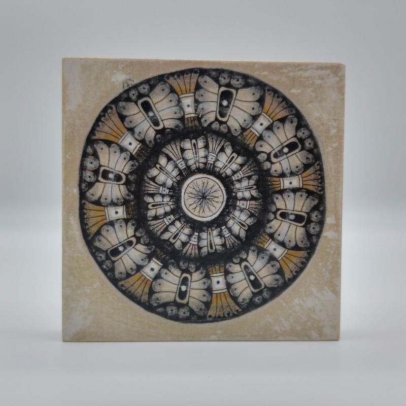 - ZIA -Mandala- auf Holz - ZIA -Mandala- auf Holz