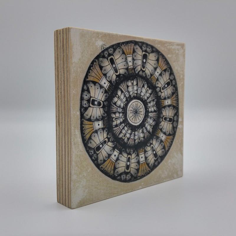 Kleinesbild - ZIA -Mandala- auf Holz