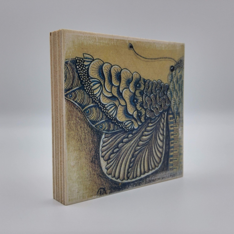 Kleinesbild - ZIA -Motte- auf Holz
