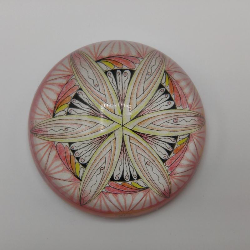 Kleinesbild - Glashalbkugel mit Mandala