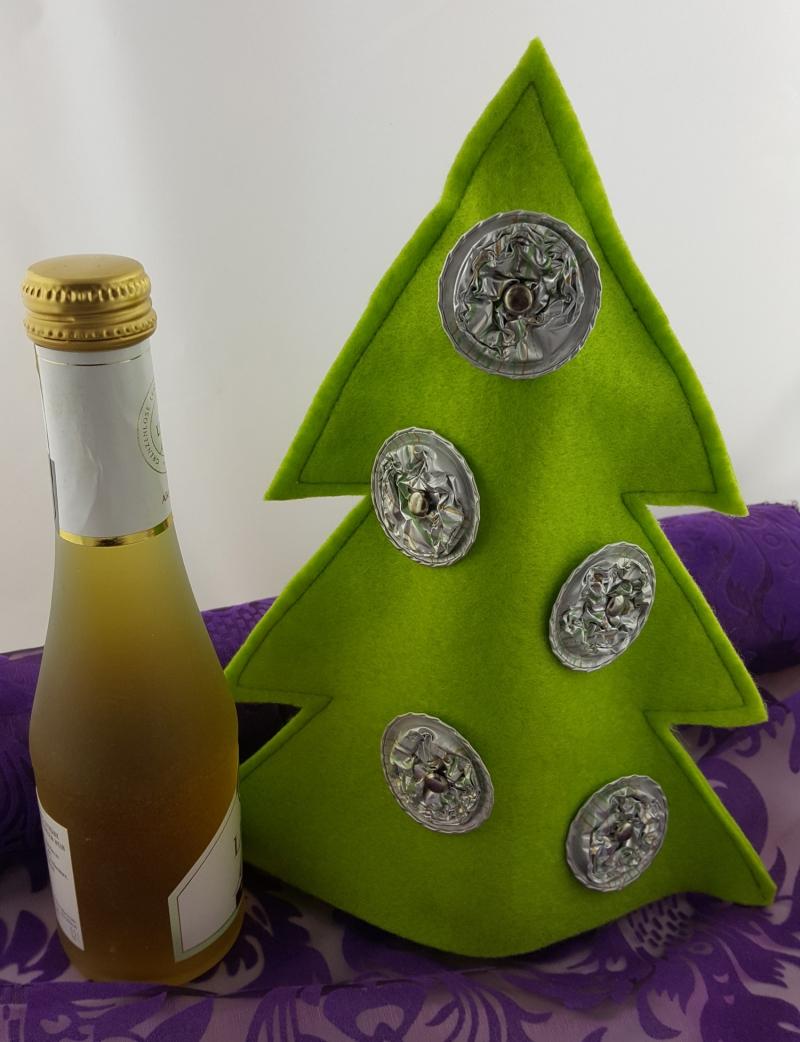 - Weihnachtsbaum aus Filz mit Kaffeekapseln ♥Upcycling♥ hellgrün Sonderedition  - Weihnachtsbaum aus Filz mit Kaffeekapseln ♥Upcycling♥ hellgrün Sonderedition