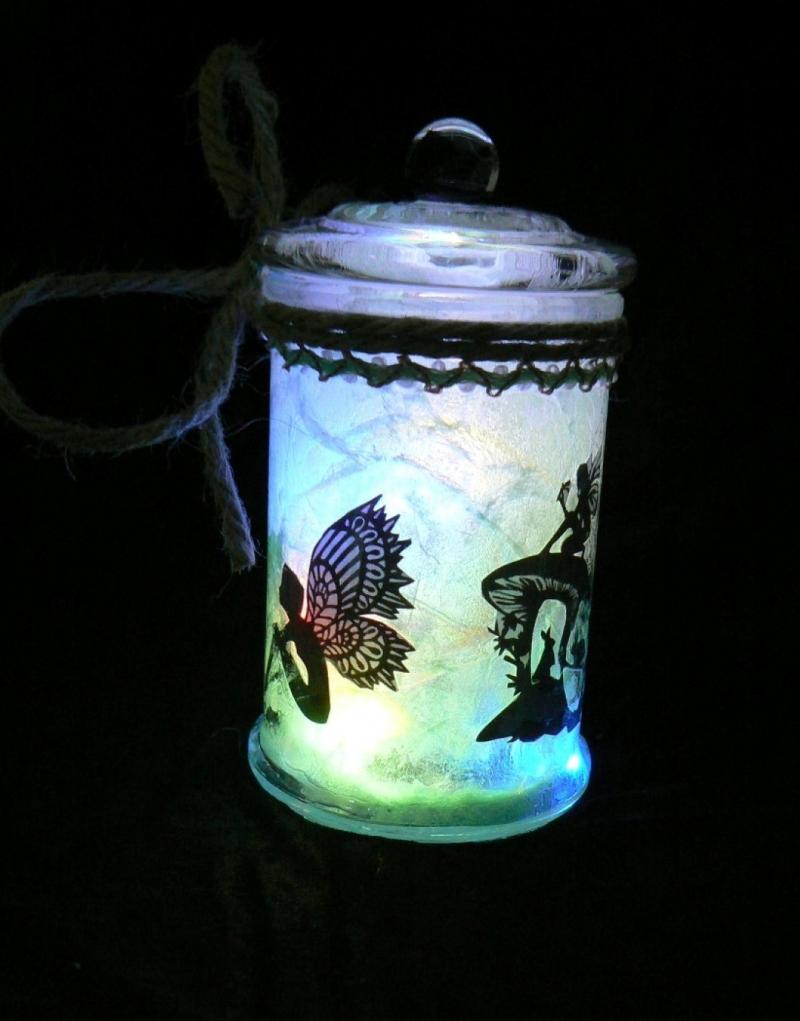 - Windlicht Feen-Glas Magische Elfen- und Waldgeister - Windlicht Feen-Glas Magische Elfen- und Waldgeister