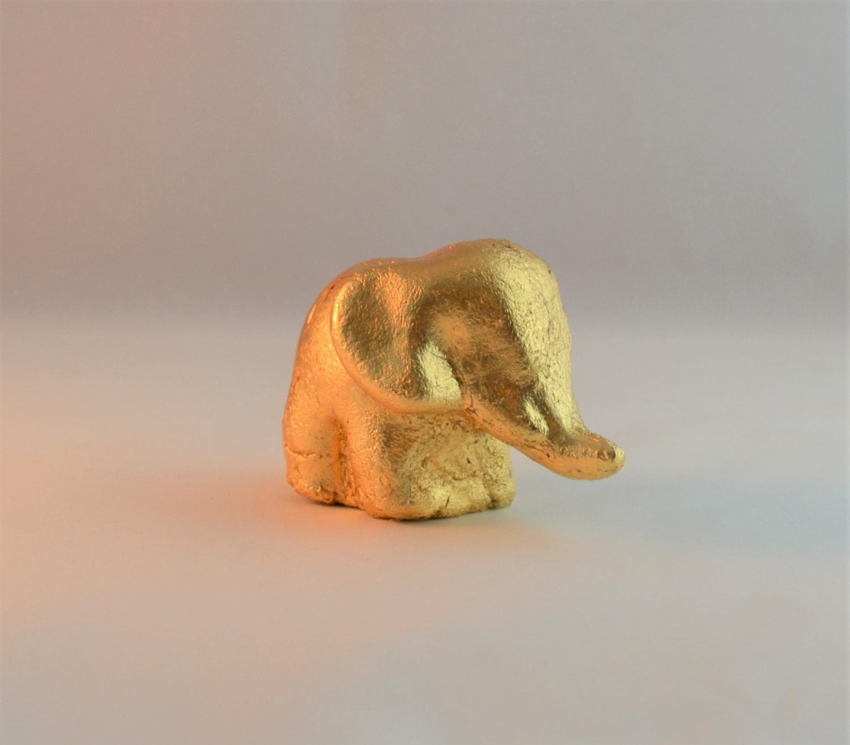 Kleinesbild - Vergoldeter Elefant aus Ton