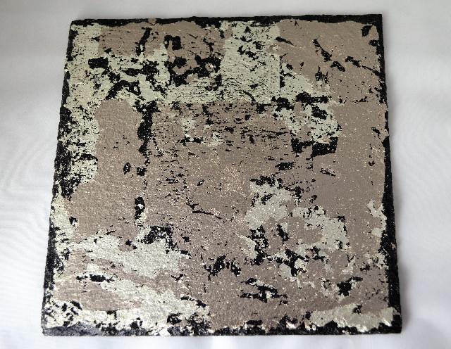 Kleinesbild - Servierplatte / Dekorierteller vergoldet mit Platingold, Schiefer