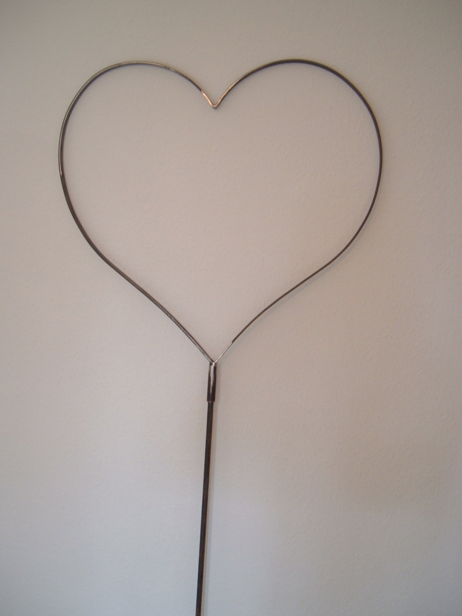 Kleinesbild - XL Herz aus Metall extra groß zum kränzen einbinden mit Grün - Geburtstag - Jubiläum - Hochzeit