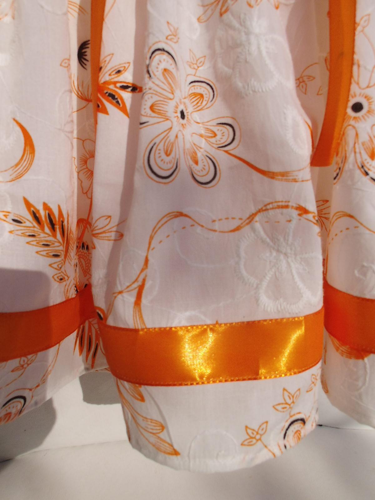 Kleinesbild - Set für Mädchen: kurze Rock aus Baumwolle + Halsbroschen / Krawatten + Handtasche.