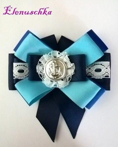 - Halsbrosche Marine blau - Halsbrosche Marine blau