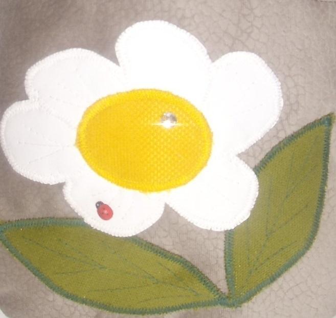 Kleinesbild - Kinderhandtasche mit weiße Blume