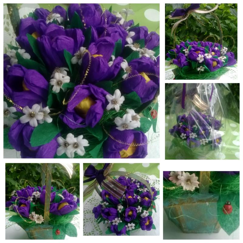 - Blumenstrauß mit Süßigkeiten  - Blumenstrauß mit Süßigkeiten