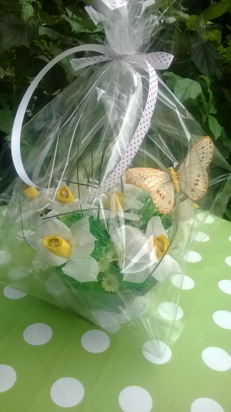 """Kleinesbild - Blumenstrauß mit Süßigkeiten """"Narzisse"""". NEU!!!"""