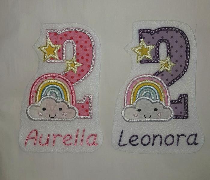 Kleinesbild - Gestickter Name  für Geburtstagszahlen ♥ nur in Verbindung mit einer Geburtstagszahl