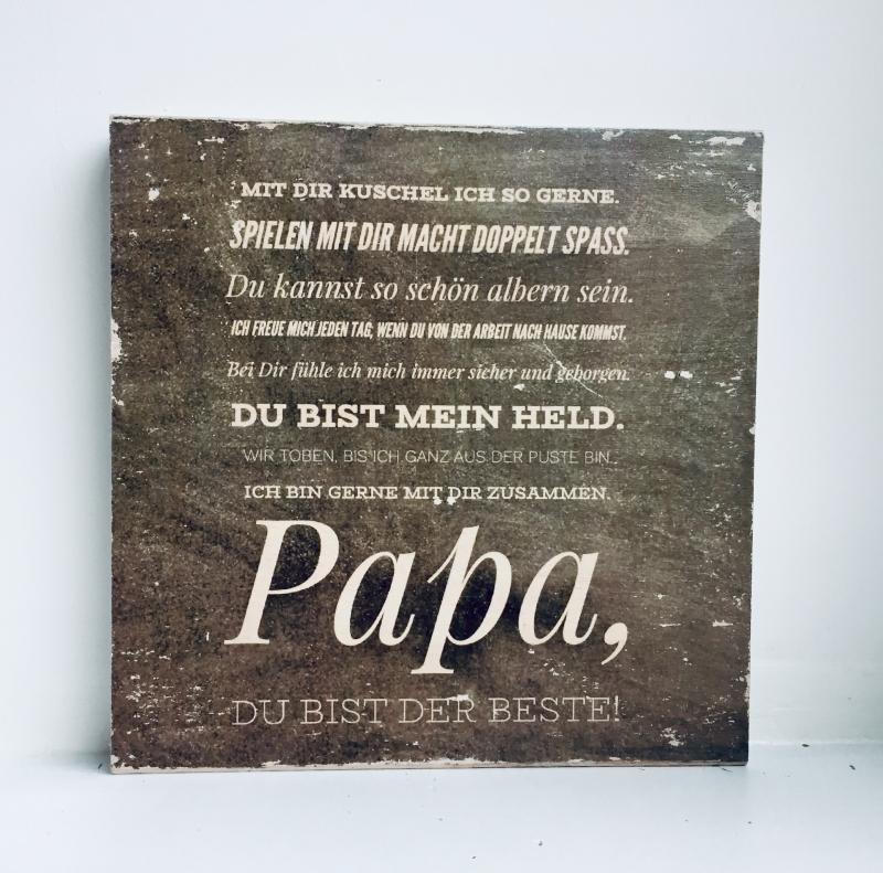 Anlasse Holzbild Vatertag Danke Papa Du Bist Der Beste