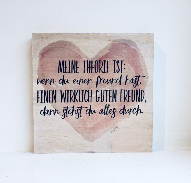 Anlässe Holzbild Wenn Du Einen Guten Freund Hast Geschenk