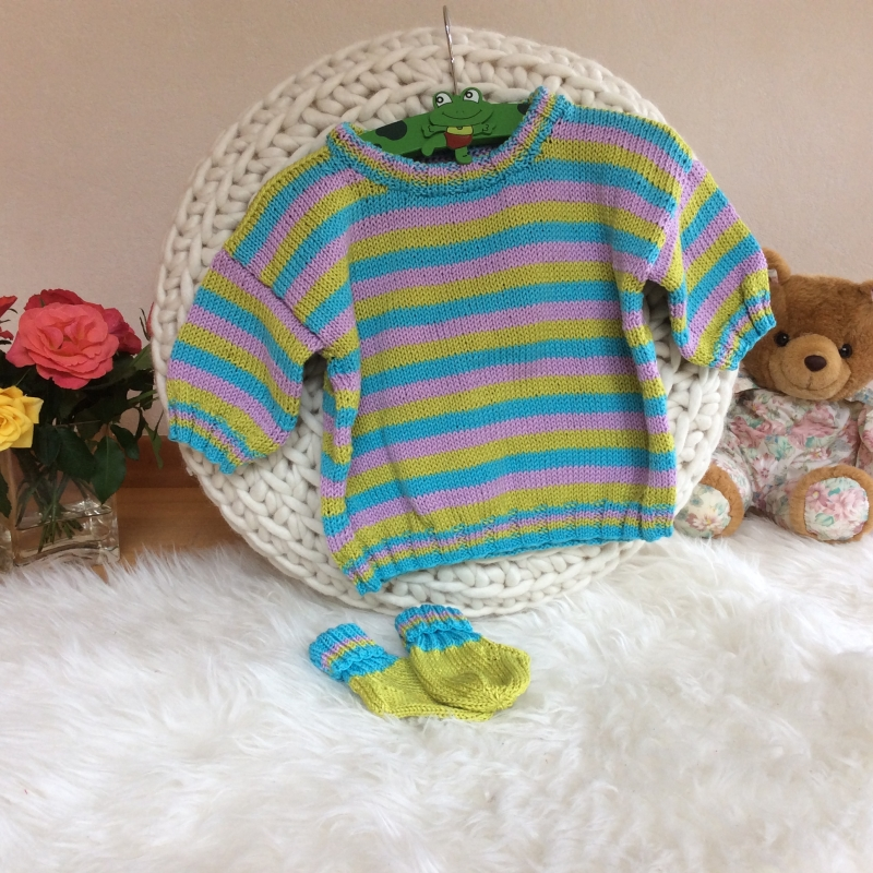 Kleinesbild - Farbenfroher Kinder Sommerpulli