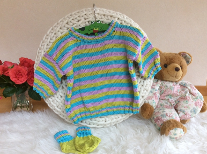- Farbenfroher Kinder Sommerpulli - Farbenfroher Kinder Sommerpulli