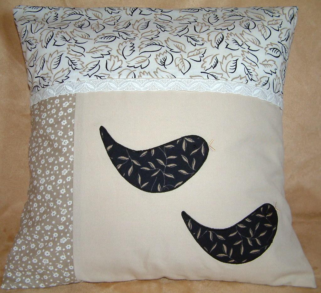 - Kissenbezug schwarze Vögel - Kissenbezug schwarze Vögel