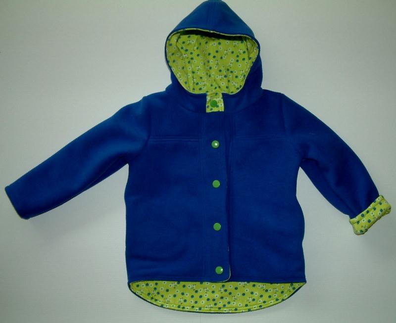 - Kleinkindwendejacke aus warmen Fleece und Jerseystoff, Kapuzenjacke - Kleinkindwendejacke aus warmen Fleece und Jerseystoff, Kapuzenjacke