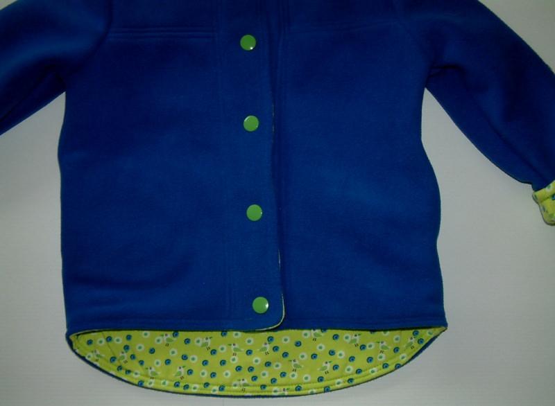 Kleinesbild - Kleinkindwendejacke aus warmen Fleece und Jerseystoff, Kapuzenjacke