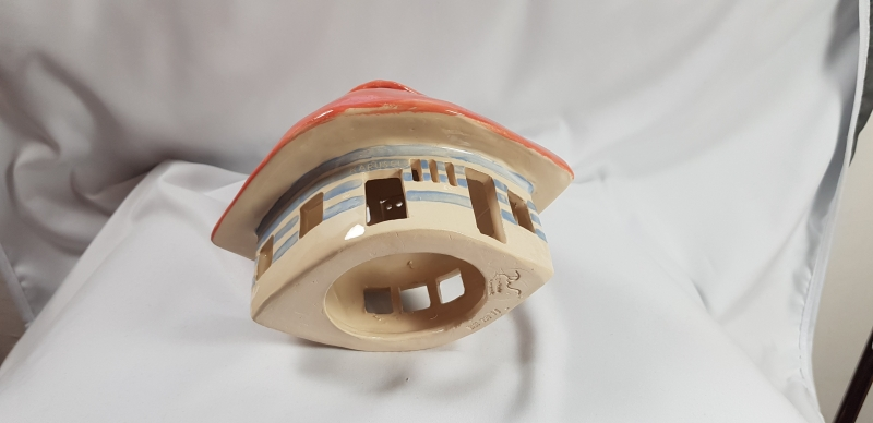 Kleinesbild - Windlicht, KaruselLicht groß in Keramik, Unikate Keramik by D.W., handmade, jetzt auch auf Palandu