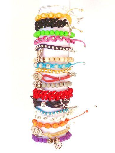 Kleinesbild - Schwarze Armband mit Kunstlederen Schnüre, silberfarbiger Zwischenstück. Handgefertigte Armreif Ibiza-Stil, Freundschaftsarmband,