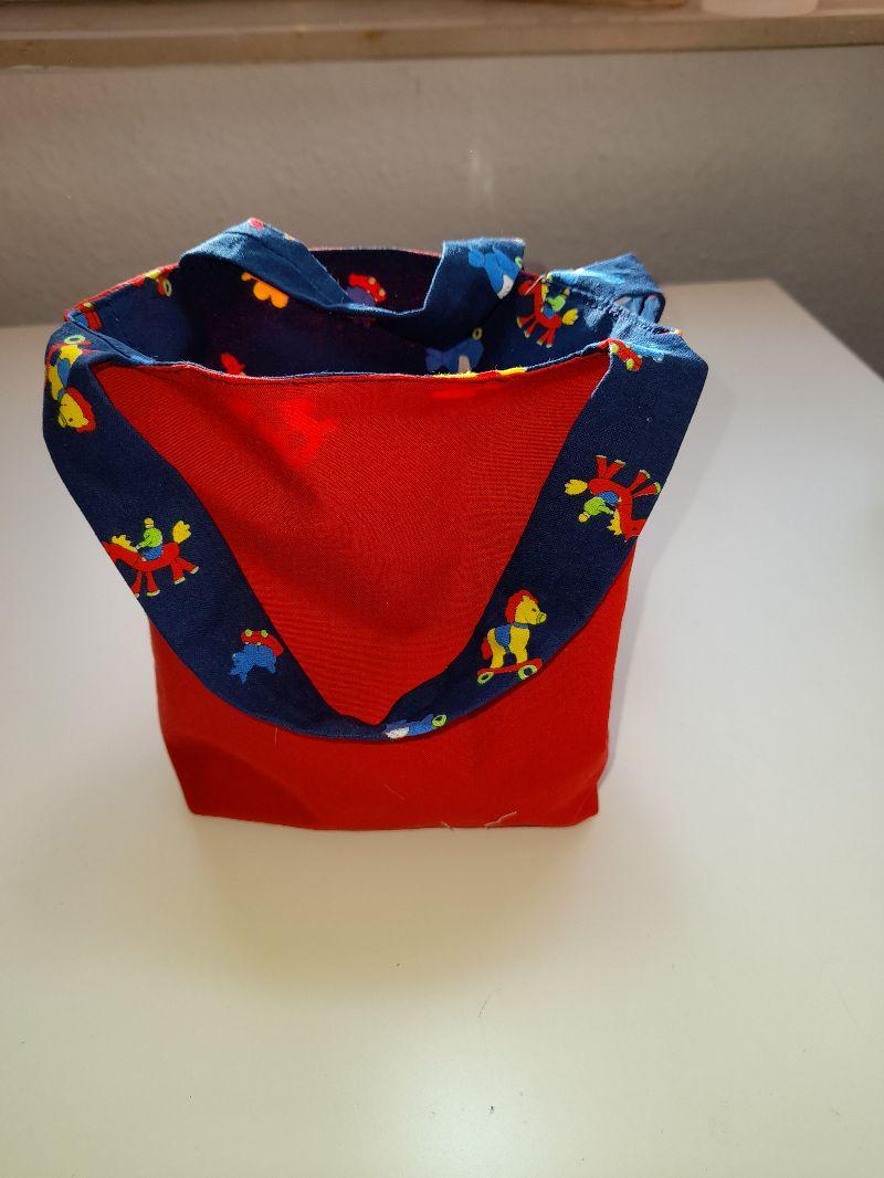 Kleinesbild - Niedlicher Stoffbeutel für Kinder, perfekt um mit Mama und Papa einkaufen zu gehen