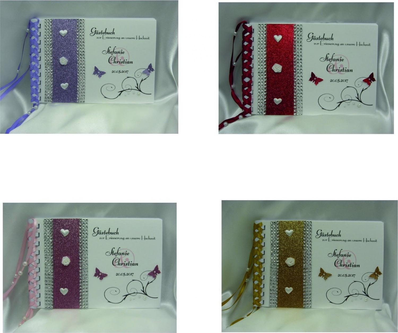 - Gästebuch zur Hochzeit Farbwahl mit Namen/Datum handgefertigt - Gästebuch zur Hochzeit Farbwahl mit Namen/Datum handgefertigt