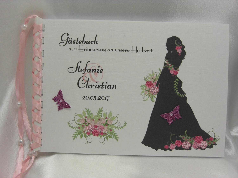 - Gästebuch zur Hochzeit Braut mit Brautstrauß - Gästebuch zur Hochzeit Braut mit Brautstrauß