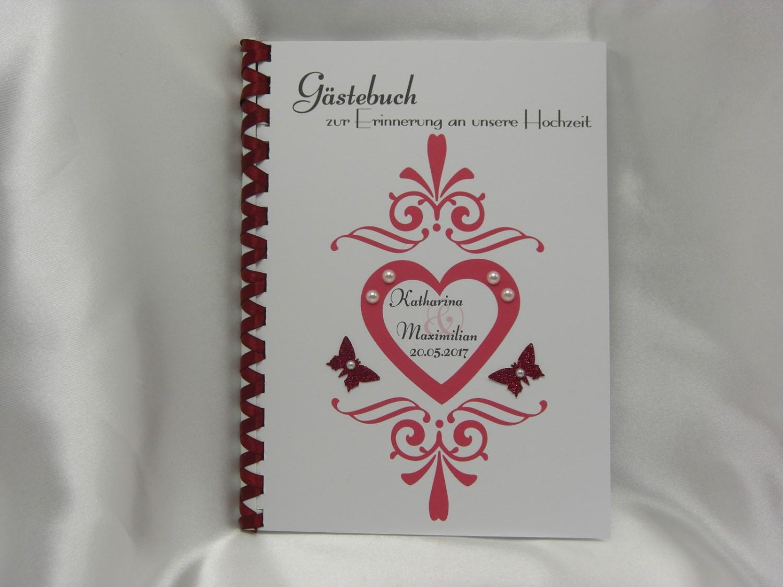 - Gästebuch zur Hochzeit Herz Ornamente  - Gästebuch zur Hochzeit Herz Ornamente
