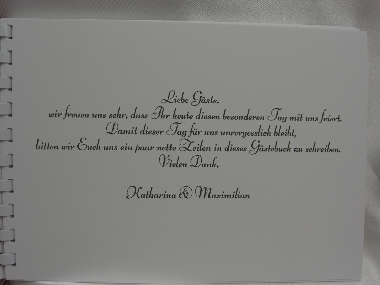 Kleinesbild - Gästebuch zur Hochzeit Herz Ornamente