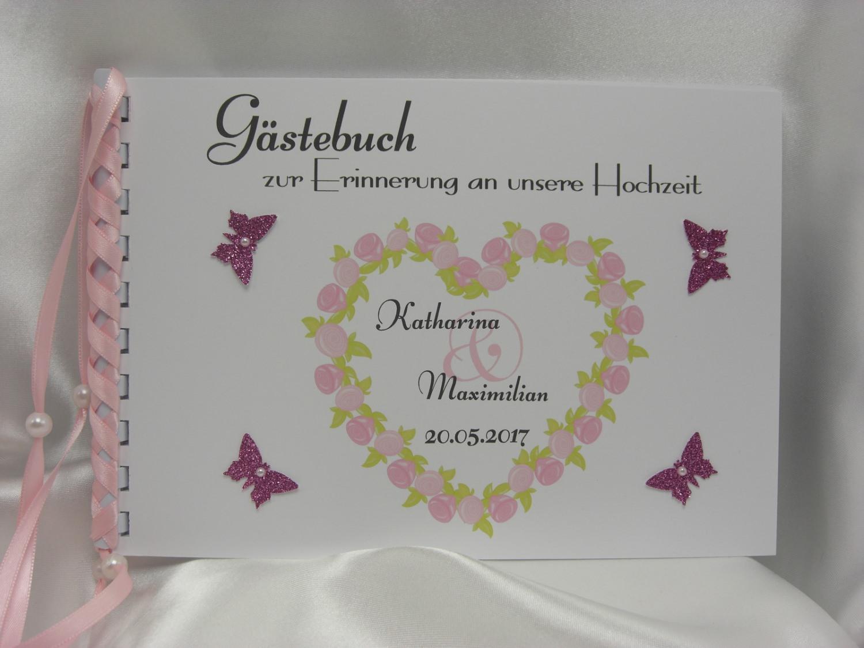 - Gästebuch zur Hochzeit Rosenherz DIN A5 - Gästebuch zur Hochzeit Rosenherz DIN A5
