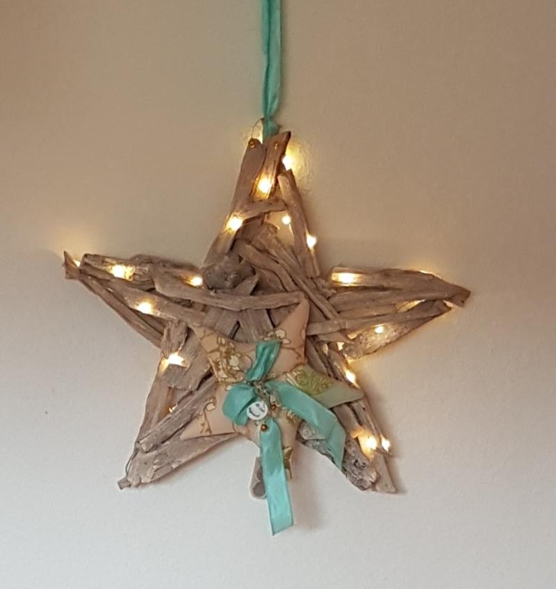- Adventskranz in Form eines Sternes für Wand und Tür, Farben Puder, Mint, Gold - mit LED-Beleuchtung - Adventskranz in Form eines Sternes für Wand und Tür, Farben Puder, Mint, Gold - mit LED-Beleuchtung
