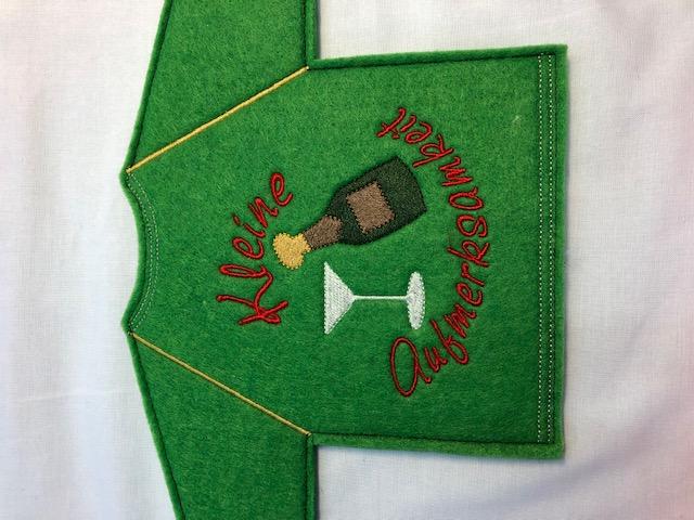 Kleinesbild - Lustiges Flaschen T-Shirt Geniale Idee für jeden Anlass/ Geschenke Handarbeit   Geschenkidee Stickerei