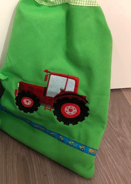 - Schöne bestickter Turntasche für kleine Mädchen/ Jungs schönes Geschenk Traktor Kindergarten - Schöne bestickter Turntasche für kleine Mädchen/ Jungs schönes Geschenk Traktor Kindergarten